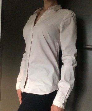 schöne weiß-rosé gestreifte Bluse