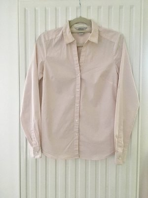 H&M Stand-Up Collar Blouse light pink-white