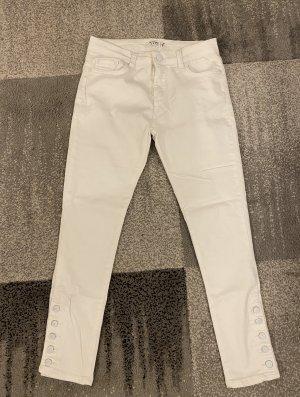 Pantalón boyfriend blanco