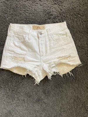 Schöne weiße kurze Pants von Hollister