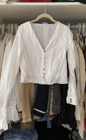 Schöne weiße Zara Bluse