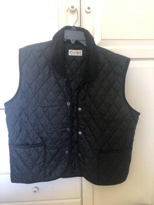 Contempo Gewatteerd vest zwart