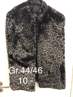Fake Fur Vest black-black brown