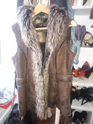 Taifun Fake Fur Vest brown