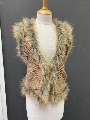 Hallhuber Knitted Vest camel