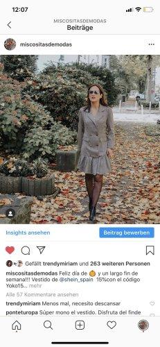SheIn Gabardina tipo vestido marrón claro