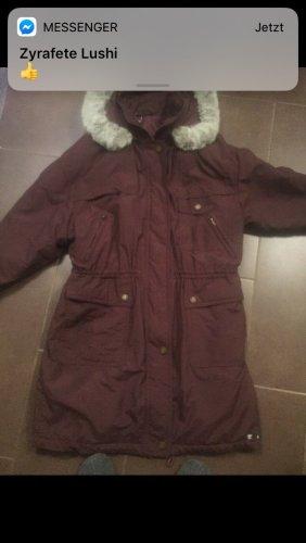 Hooded Coat blackberry-red