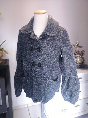 Schöne Wolljacke von Esprit - Winterjacke - Cabanjacke GR M weiß schwarz grau Winter Jacke warm Mantel