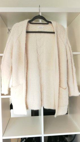 Zara Veste tricotée en grosses mailles blanc-blanc cassé