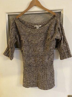 American Rag CIE Pull tricoté gris brun-marron clair