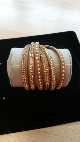 Bracelet beige-gold-colored