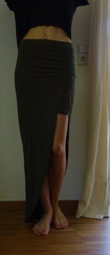 Only Asymmetry Skirt khaki cotton