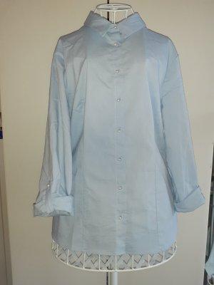 Schöner Blauer Hemd mit Perlen Gr. 42-44