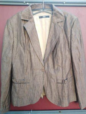 Schöner Blazer im Knitterlook von S.olivier Gr. 44 neu und ungetragen Leinen