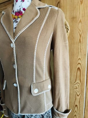 Basler Blazer in maglia color cammello