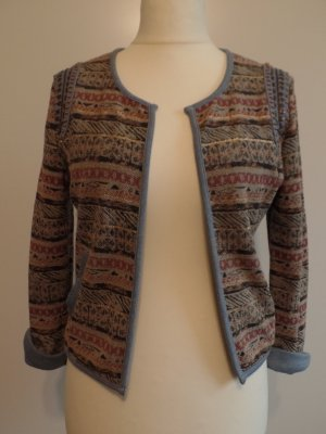 schöner Blazer mit Ethno-Muster aus Sweat-Stoff, Garcia Jeans, Gr. L