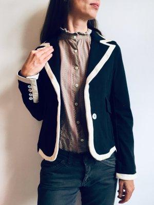 Blunauta Blazer en jersey bleu foncé-blanc cassé
