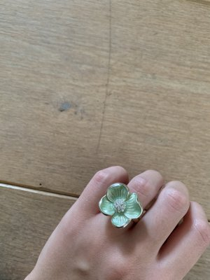 Avon Anillo de plata color plata-verde pálido