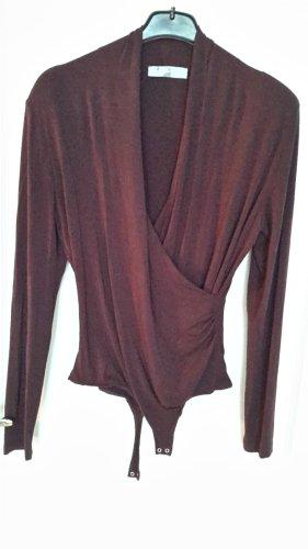 Hallhuber Donna Basic Bodysuit bordeaux viscose
