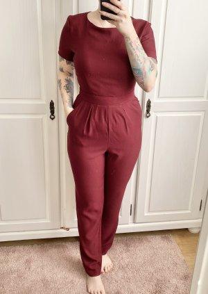 Schöner Bordeaux roter Overall Jumpsuit Einteiler von Forever 21 Größe M