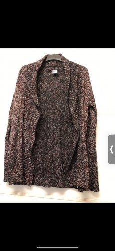 Vero Moda Cardigan en crochet noir-rouge foncé