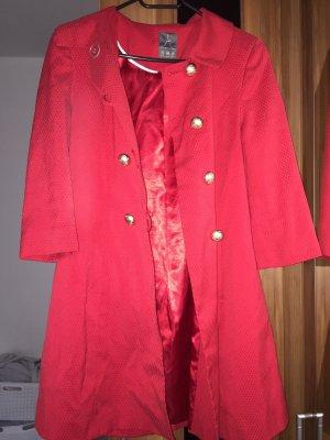 Cappotto trapuntato rosso