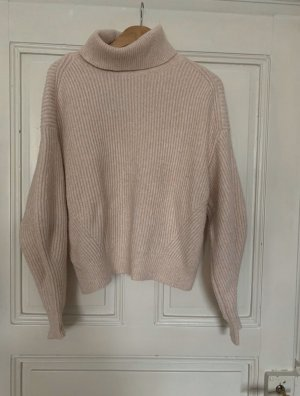 H&M Maglione dolcevita rosa-rosa chiaro