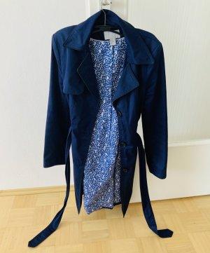 Schöner, dunkelblauer Trenchcoat von H&M Größe 40