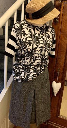 Eddie Bauer Tweed rok zwart-grijs