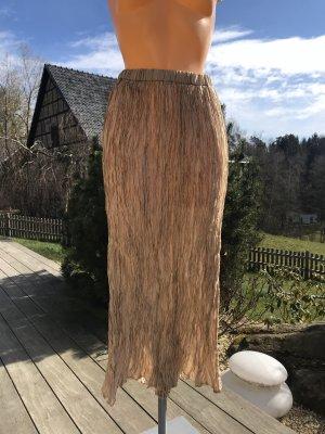 imitz Maxi Skirt beige-light brown viscose