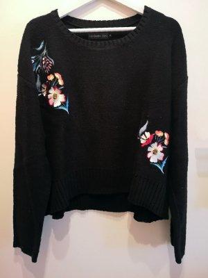 Schöner EVEN&ODDS Strick-Pullover mit Blumenstickerei, Gr. XL