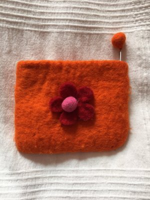 Portemonnee donker oranje-rood