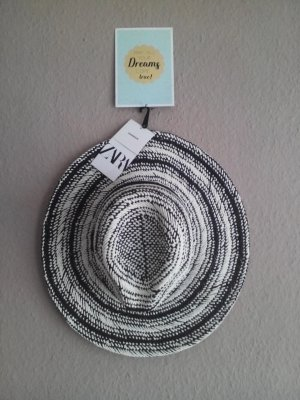 Zara Sun Hat black-white mixture fibre