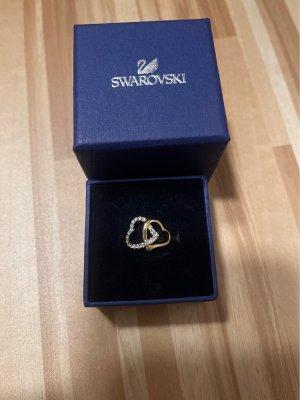 Swarovski Srebrny pierścionek srebrny-złoto