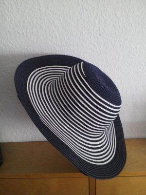 Chapeau de soleil blanc-bleu foncé