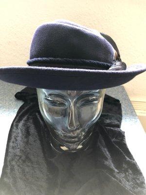 Mayser-Milz Woolen Hat dark violet-dark brown