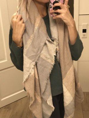 Zalando Knitted Scarf pink-light grey