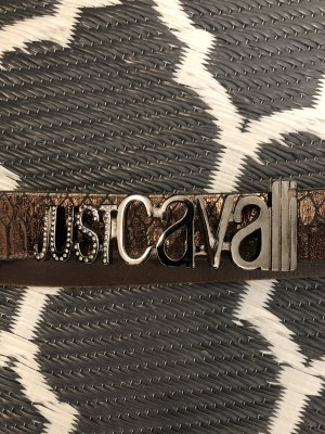 Just cavalli Leather Belt bronze-colored