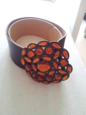 H&M Cintura marrone-arancione