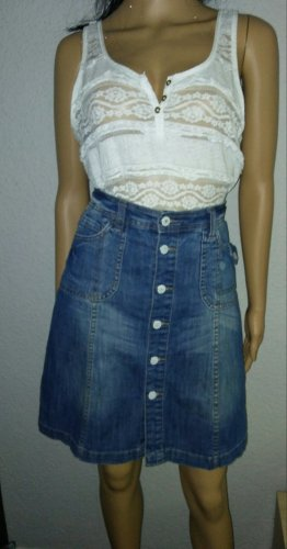 H&M Denim Skirt multicolored cotton