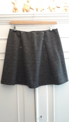 Tchibo / TCM Knitted Skirt black-dark grey