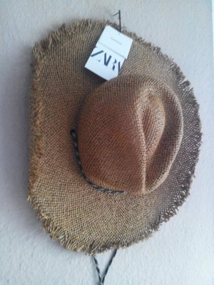 Zara Sun Hat light brown mixture fibre