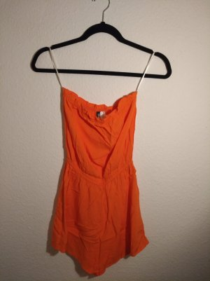 H&M Caftan neon orange-salmon cotton