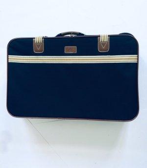 Valigia blu scuro-sabbia