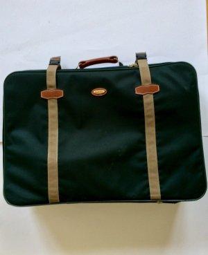 Koffer donkergroen-zandig bruin