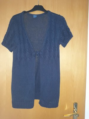 Arizona Cárdigan de manga corta azul oscuro Algodón