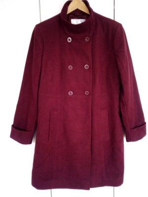 bpc Heavy Pea Coat bordeaux polyester
