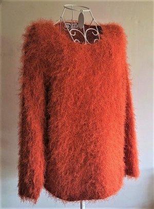 bluhm Sweter z dzianiny ciemny pomarańcz