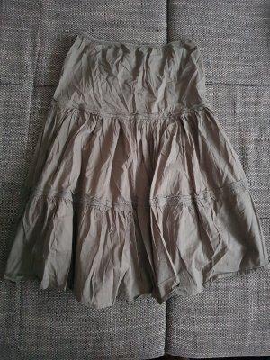 Spódnica maxi ochra-oliwkowy