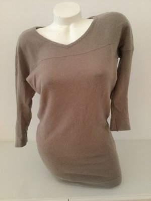 81hours Long Sweater camel-grey brown